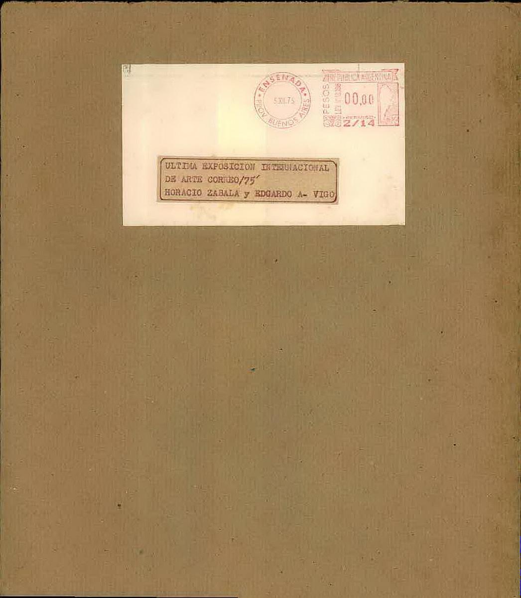 Edgardo Vigo y Horacio Zabala. Last mail art exposition catalogue