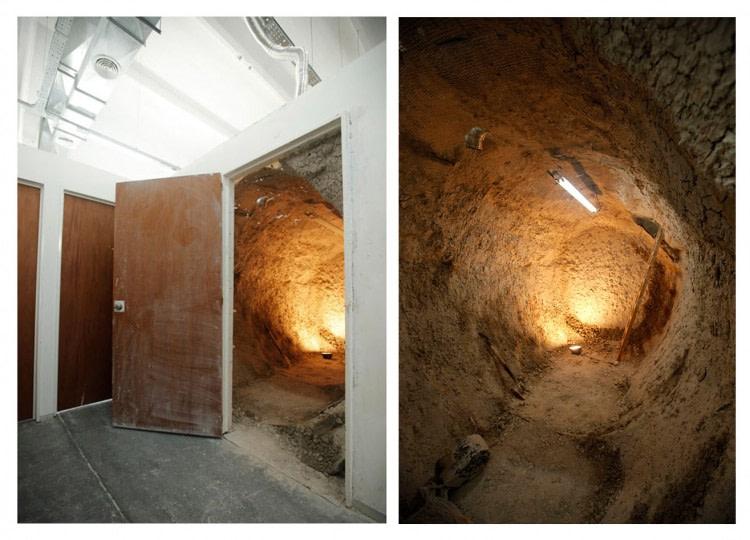 Cavern.a sculpture, clay 1000 kg, 250 x 350 x 200 cm. Beca Kuitca, Buenos Aires, Argentina. 2010-2011